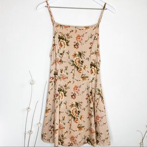 Urban Outfitters Peach Pink Floral Strappy Dress